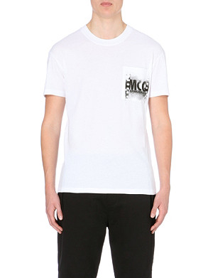 MCQ ALEXANDER MCQUEEN Graffiti letters cotton t-shirt