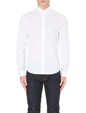MCQ ALEXANDER MCQUEEN Logo-embroidered cotton-poplin shirt