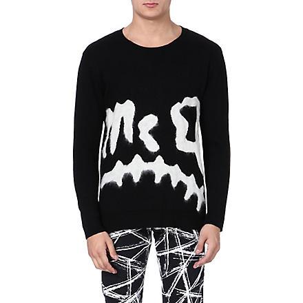 MCQ ALEXANDER MCQUEEN Razor Blade print jumper (Black