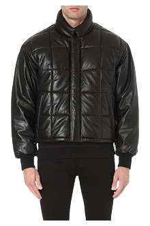 MCQ ALEXANDER MCQUEEN Quilted leather jacket