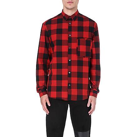 MCQ ALEXANDER MCQUEEN Lumberjack check shirt (Red