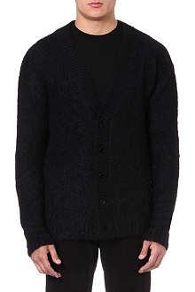 MCQ ALEXANDER MCQUEEN Mohair-blend knitted cardigan