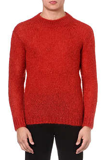 MCQ ALEXANDER MCQUEEN Brushed mohair knitted jumper
