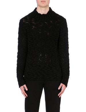 MCQ ALEXANDER MCQUEEN Chunky wool-blend open knit jumper