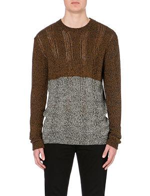 MCQ ALEXANDER MCQUEEN Block cotton-wool contrasting panel jumper
