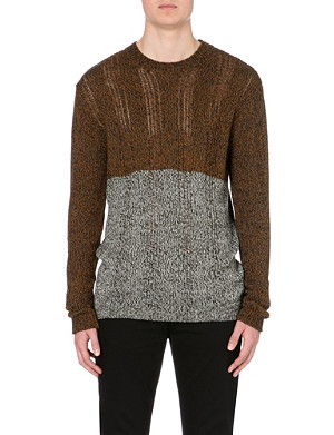 MCQ ALEXANDER MCQUEEN Block cotton-wool contrasting panel jumper
