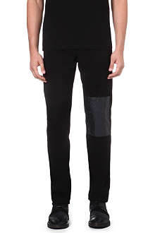 MCQ ALEXANDER MCQUEEN Panelled skinny-fit tapered jeans