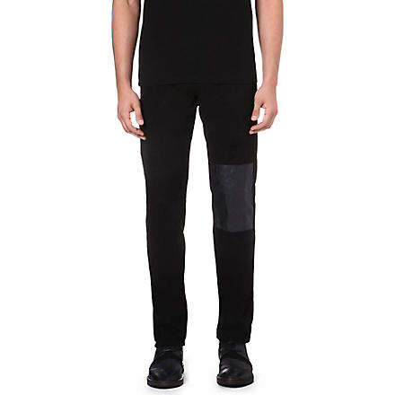 MCQ ALEXANDER MCQUEEN Panelled skinny-fit tapered jeans (Black