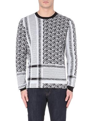 MCQ ALEXANDER MCQUEEN Razor-check knitted jumper