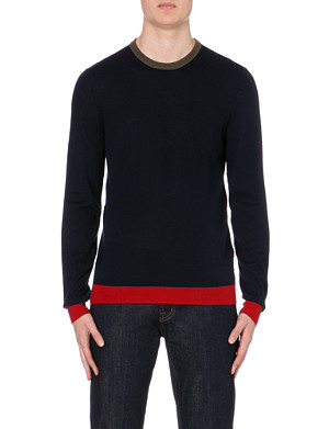 MCQ ALEXANDER MCQUEEN Colourblock trim wool jumper