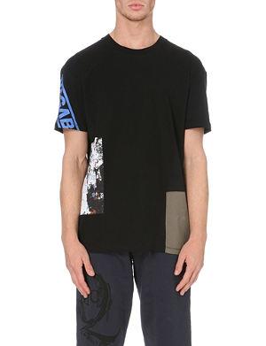 MCQ ALEXANDER MCQUEEN Repaired cotton-jersey t-shirt