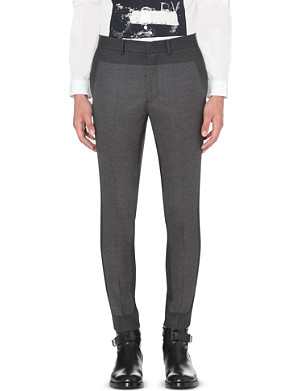 MCQ ALEXANDER MCQUEEN Panelled tapered-leg suit trousers