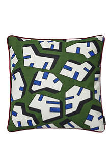 HAY Set of two Ice Print square cushions