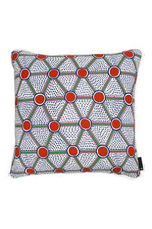 HAY Set of two Cells Print square cushions