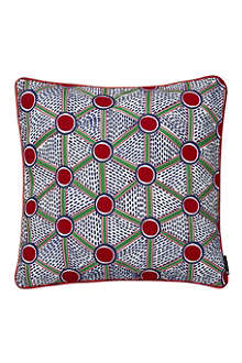 HAY Set of two Cells embroidered square cushions