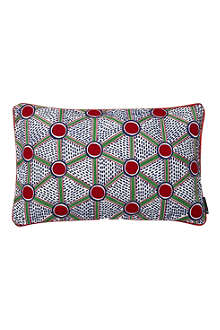 HAY Set of two Cells embroidered rectangular cushions