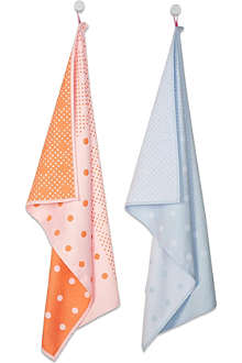 HAY Set of two big dot tea towels