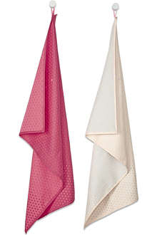 HAY Set of two random dot tea towels