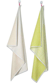 HAY Set of two landscape dot tea towels