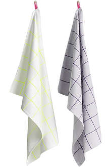 HAY Set of two kitchen tiles tea towels