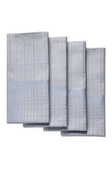 HAY Set of four double grid napkins