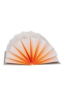 HAY Plisse A4 orange fade archive folder