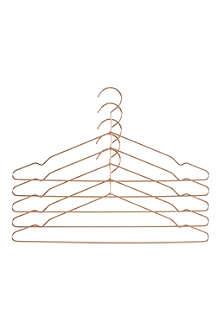 HAY Set of 5 coat hangers