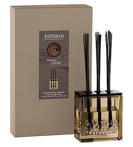 ESTEBAN Ebène & Cuir scented bouquet triptyque diffuser 250ml