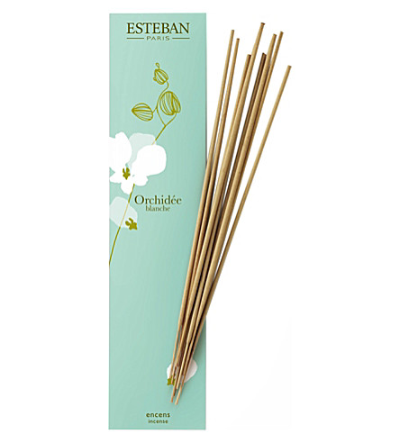 ESTEBAN Orchidee blanche bamboo sticks