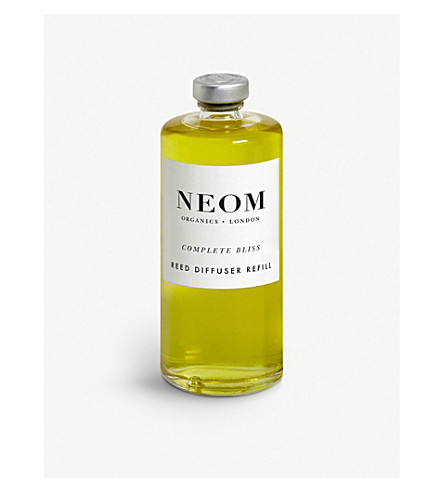 NEOM LUXURY ORGANICS Complete bliss reed diffuser refill 100ml