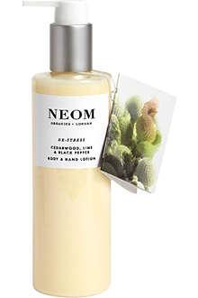 NEOM LUXURY ORGANICS De-stress body and hand lotion 250ml