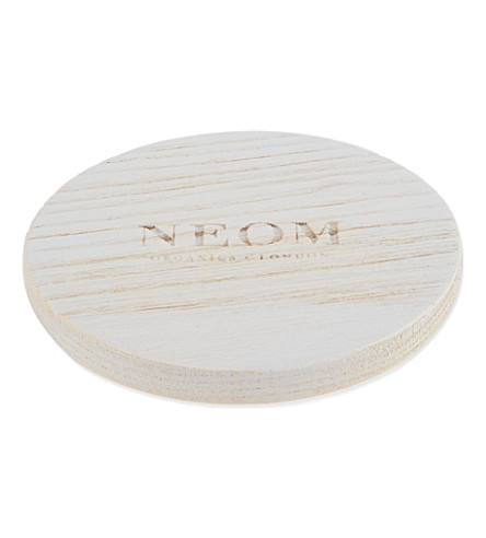 NEOM LUXURY ORGANICS Wooden candle cap - suitable for 185g candles