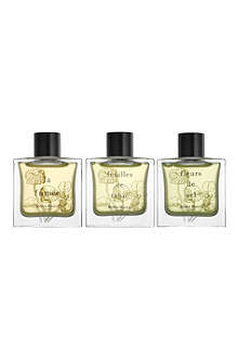 MILLER HARRIS Set of three wood fragrance collection gift set