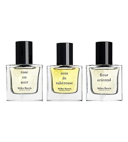 MILLER HARRIS Fleurs collection eau de parfum 3x 15ml