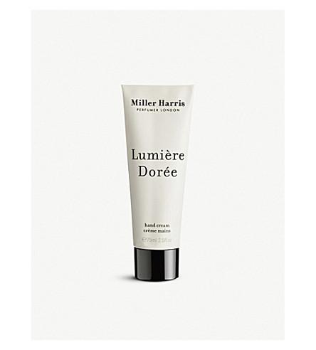 MILLER HARRIS Lumière Dorée Hand Cream 75ml
