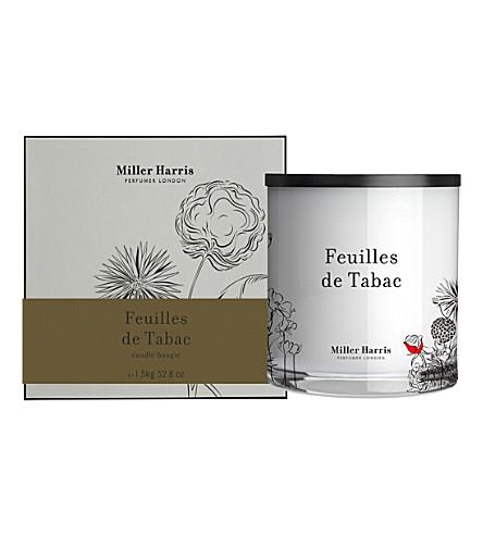 MILLER HARRIS Feuilles de tabac scented pillar candle 1.5kg