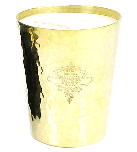 D.L. & CO Gold hammered dore candle