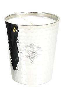 D.L. & CO Hammered argente silver candle
