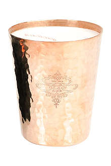 D.L. & CO Rose hammered candle