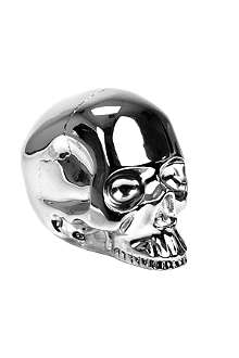 D.L. & CO Memento Mori large silver-plated skull