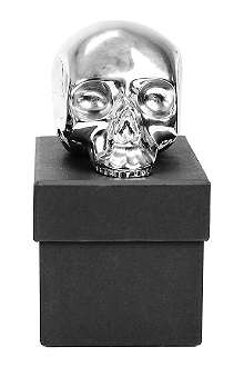 D.L. & CO Memento Mori medium silver-plated skull