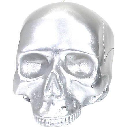 D.L. & CO Medium silver skull candle