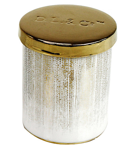 D.L. & CO Sparkling Embers gold tumbler candle