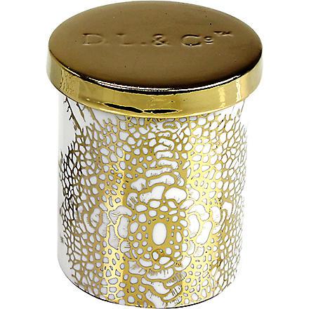 D.L. & CO Essence Of Florets gold tumbler candle