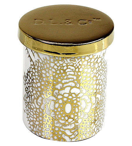 D.L. & CO Essence Of Florets gold tumbler candle