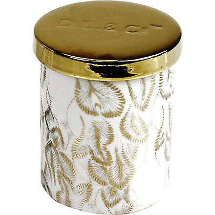 D.L. & CO Gilded leaves gold tumbler candle