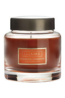 ILLUME Tangerine Teakwood scented candle jar