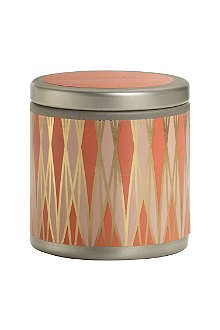 ILLUME Tangerine Teakwood mini scented candle tin