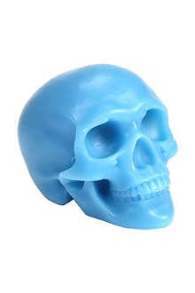 D.L. & CO Memento Mori blue skull with mandible