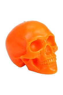 D.L. & CO Memento Mori orange skull with mandible candle
